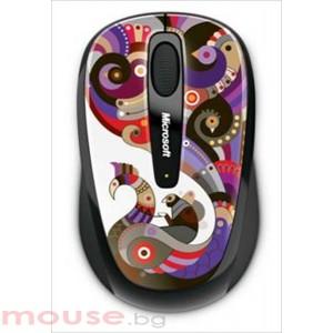 MICROSOFT Wireless Mobile Mouse 3500 Artist Chamarelli