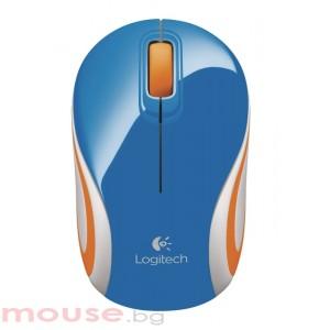 Мишка LOGITECH Mini M187 безжична син