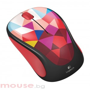 Logitech Wireless Mouse M238 Play Collection - Red Facets