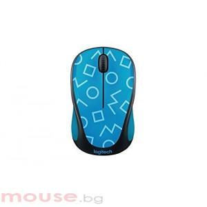 Мишка LOGITECH M238 безжична Party Collection - GEO BLUE