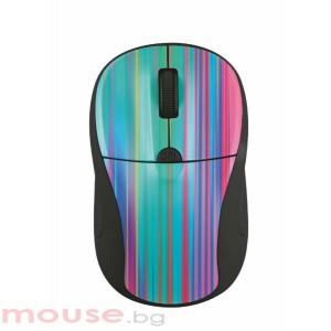 Мишка TRUST Primo безжична - сива/шарена