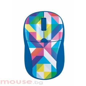 Мишка TRUST Primo безжична - синя/шарена