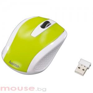 Мишка HAMA AM-7200, зелена USB