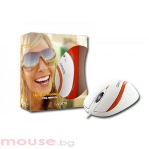 Мишка CANYON CNR-MSOPT6 White/Orange