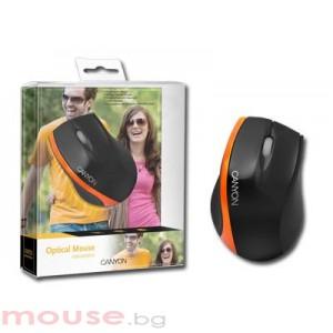 Мишка CANYON CNR-MSO01O Black/Orange