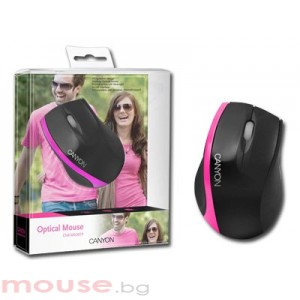 Мишка CANYON CNR-MSO01P Black/Pink