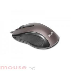 Мишка DELUX DLM-315/USB/SILVER/BLACK USB