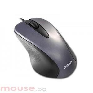 Мишка DELUX DLM-320/USB/SILVER/BLACK USB