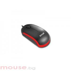 Мишка DELUX DLM-310 Black/Red