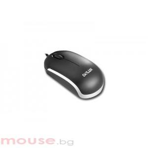 Мишка DELUX DLM-310/USB/BLACK/SILVER USB