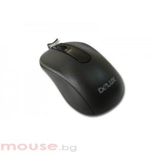 Мишка DELUX DLM-102/USB/BLACK USB