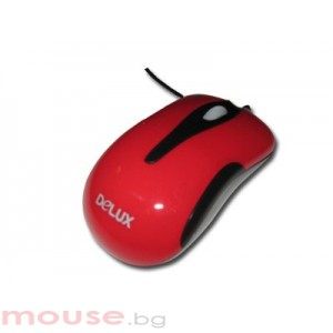 Мишка DELUX DLM-115/USB/RED/BLACK USB