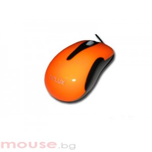 Мишка DELUX DLM-115 Orange/Black
