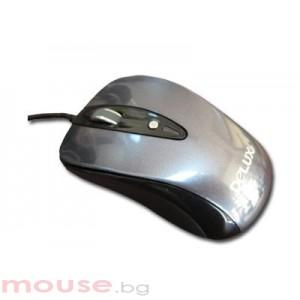 Мишка DELUX DLM-482 Grey/Black