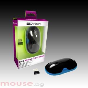 Мишка CANYON CNR-MSOW01N, оптична, USB 2.0, Blue