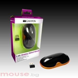 Мишка CANYON CNR-MSOW01N, оптична, USB 2.0, Orange