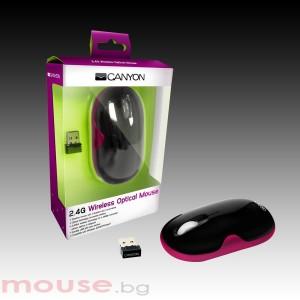 Мишка CANYON CNR-MSOW01N, оптична, USB 2.0, Pink