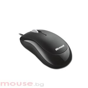 Мишка MICROSOFT Basic Кабел, Оптичен, USB/PS/2, черна