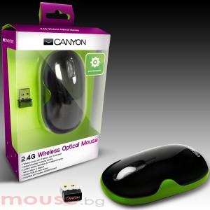 Мишка CANYON CNR-MSOW01N, оптична, USB 2.0, Green