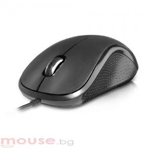 Мишка DELUX Кабел, Оптична, 1000dpi,