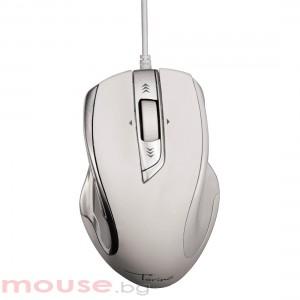 Оптична мишка HAMA Torino USB 1200 dpi Сребрист/Бял