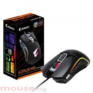 Геймърска оптична мишка Gigabyte Aorus M5 RGB Fusion