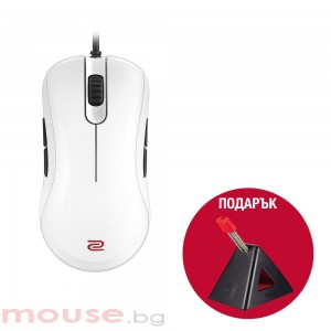 Геймърска мишка ZOWIE, ZA13, Оптична, Кабел, USB, Бяла + ZOWIE CAMADE