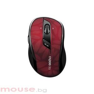 Безжична оптична мишка RAPOO M500 Silent, Multi-mode, безшумна, Червен/Черен