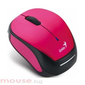 Мишка Genius MICRO TRAVELER 9000R, Pink/Black - безжична, оптична