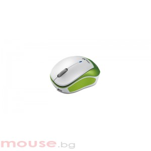 Мишка Genius MICRO TRAVELER 9000R, Green/White - безжична, оптична
