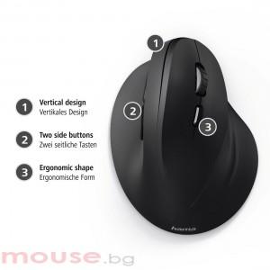Жична ергономична мишка HAMA EMC-500, USB, 1000/1200/1400 dpi, Черен