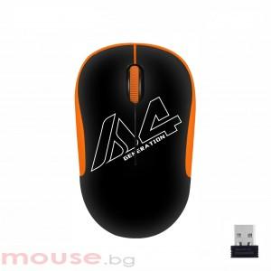 Оптична мишка A4tech G3-300N V-Track, USB, Черен/Оранжев
