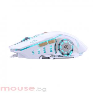 Геймърска мишка, ZornWee Glory of King Z32, Оптична, Бял