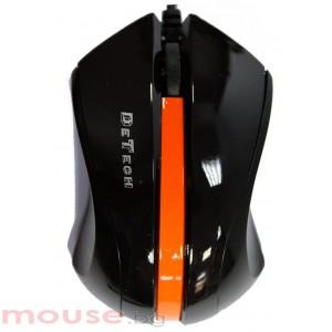 Мишка DeTech, Оптична 6D Wired, Черен