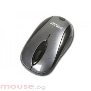 Мишка DELUX DL-M350GL Grey/Black