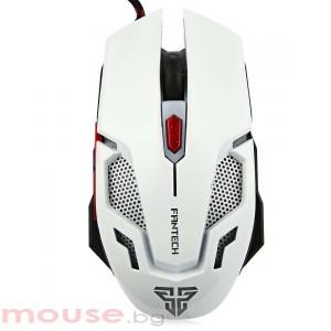 Геймърска мишка FanTech, Оптична V2,Бял