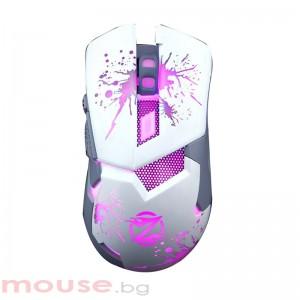 Геймърска мишка, ZornWee Z42, Оптична, Бял