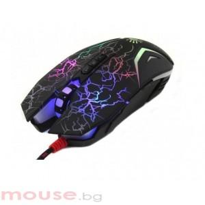 Геймърска мишка A4TECH Bloody, N50, Оптична, Жична, USB, Черно