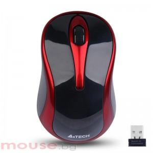 Безжична мишка A4Tech G3-280N-2, V-Track PADLESS, сива, USB