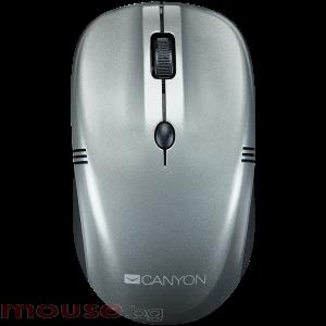 Мишка CANYON Безжичен, 4 buttons, DPI 800/1200/1600, dark gray pearl glossy