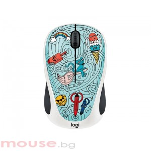 Мишка LOGITECH Doodle Collection - M238 Wireless Mouse - BAE-BEE BLUE