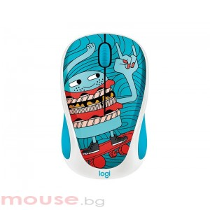 Мишка LOGITECH Doodle Collection - M238 Wireless Mouse - SKATEBURGER