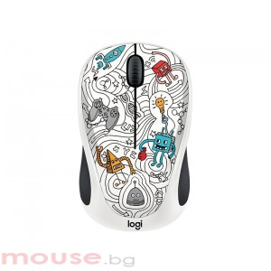 Мишка LOGITECH Doodle Collection - M238 Wireless Mouse - TECHIE WHITE
