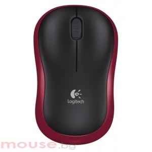 Безжична оптична мишка LOGITECH M185, Червена, USB