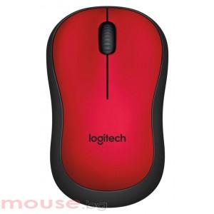 Безжична оптична мишка LOGITECH M220 Silent, Червена, USB