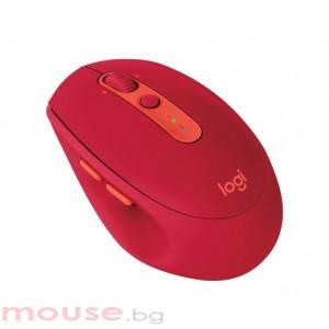 Мишка LOGITECH M590 безжична, оптична, USB, рубинен