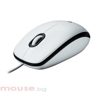 Мишка LOGITECH Mouse M100 White