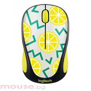 Мишка LOGITECH Wireless Mouse M238 Party Collection - LEMON (ремаркетиран продукт)