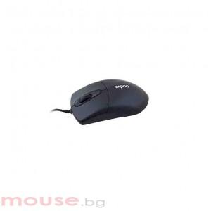 Жична оптична мишка RAPOO N1050, Черен, USB