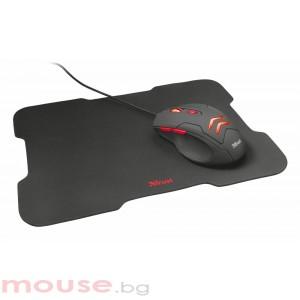 Мишка TRUST Ziva Gaming с подложка